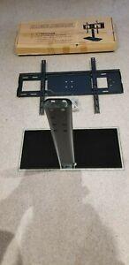 "UK Desk Top Monitor Table TV Stand Bracket Mount Plasma LCD LED 37-55"" Universal"