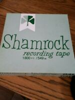 "Lot of 2 Shamrock 041 1800 ft 7"" Reel-To-Reel Tapes w/ Recordings"