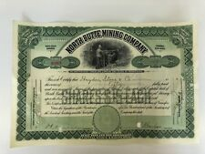 Genuine American Mining Share Certificate Dated 1910-1917