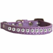 Mirage Pet Products Clear Jewel Cat safety collar Lavender Size 10