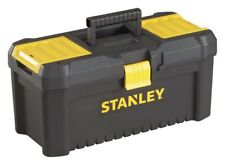 Stanley 16 Inch Essential Durable Plastic Tool Box - Black.