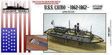 "FLAGSHIP MODELS 1/192 Scale USS Cairo Civil War River Gun Boat (11"" Inches Long)"
