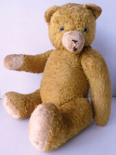 """Old vtg 23"""" excelsior Teddy Bear needs home & Tlc Gold with glass eyes no reserv"""