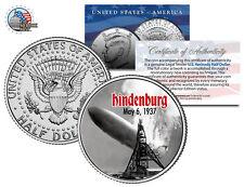 HINDENBURG LZ-129 AIRSHIP DISASTER * May 6, 1937 * JFK Kennedy Half Dollar Coin