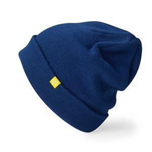 VW Stickmütze Mütze Blau Beanie Wollmütze 5H0084303