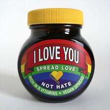NEW MARMITE I LOVE YOU 250G JAR PRIDE RAINBOW SPREAD LOVE NOT HATE LIMITED LGBTQ