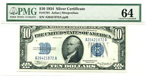 1934 $10 Silver Certificate, Fr#1701, PMG 64 Choice Uncirculated