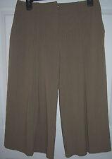 sz 7 WOMEN'S Capri GAUCHO PANTS iz Byer California 28 x20 Camel Tan Pin Stripe