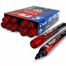 PILOT SCA-100 puntino permanenti pennarello - 4.0mm-4.5mm - Rosso-Scatola di 12