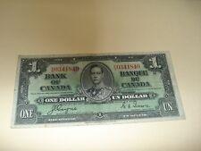 1937 - Canadian one dollar bill - $1 Canada note - RN0341840