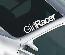 Girl Racer car sticker windscreen Adhesive jdm euro dub 56