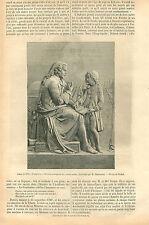 Jacob Rodrigue Pereire Orthophonie Sculpture Chatrousse GRAVURE OLD PRINT 1867