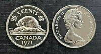 Canada 1971 Proof Like Gem Five Cent Nickel!!
