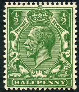 1919 ½d very deep green wmk Royal C unused o.g. Spec No N14(5).