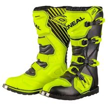 ONeal Rider Motocross Adults Off Road Boots Track& trail Neon Yellow size 45
