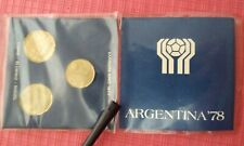 FOOTBALL SOCCER WORLD CHAMPIONSHIP ARGENTINA COIN CONMEMORATIVE SET 1978 RARE!