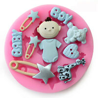 Baby Shower Toys Silicone Fondant Cake Chocolate Cookie Baking Mold Mould Decor