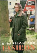 Queen Elizabeth II Green Jacket Scarf - Royal Family Trading Card Not a Postcard