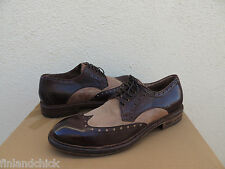 UGG COLLECTION ALLCOTT WING-TIP LEATHER BROGUE LACE-UP LOAFERS, US 11.5/ 45 ~NEW