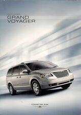 Chrysler Grand Voyager 2007-08 UK Market Sales Brochure LX Touring Limited