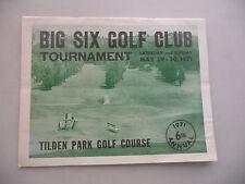 BERKELEY CA TILDEN PARK GOLF COURSE BIG SIX TOURNAMENT  1971 GREYHOUND BUS AD