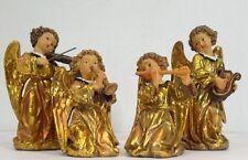 LES ALPES 040 4437-QUATTRO ANGELI IN RESINA VESTITO ORO-CM 10/15