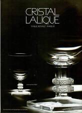 Publicité ancienne cristal Lalique 1975