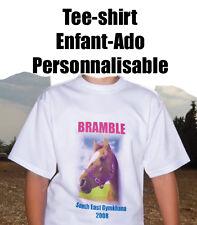 Tee shirt BLANC PERSONNALISABLE ENFANT 7/8 ANS