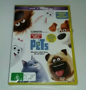 THE SECRET LIFE OF PETS DVD+ Digital UV (pal, 2015) BRAND NEW & SEALED-free post