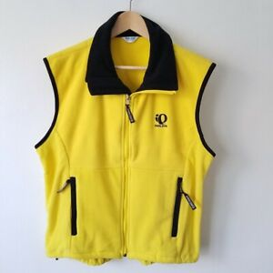 Pearl Izumi Yellow Sleeveless Full Zip Vest Cycling Jacket Women's Size Medium