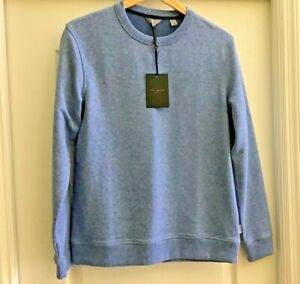 Ted Baker Men Sweater Quarter 1//4 Zip Pullover Mock Neck Gray Size 4 Large L NWT