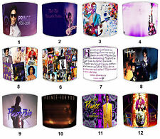 More details for prince lampshades ideal to match prince purple rain albums & prince memorabilia