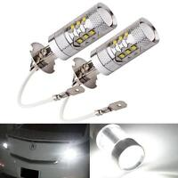 H3 80W Bright LED White Fog Tail Turn DRL Head Car Light Lamp Bulb Error Free