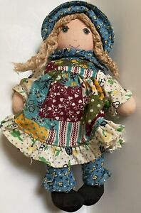 "Vintage Small 1976 Holly Hobbie 9"" Cloth Rag Doll Knickerbocker Original"