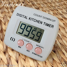 Large LCD screen Digital Kitchen Cooking Timer Count-Down Up Clock Alarm Timer