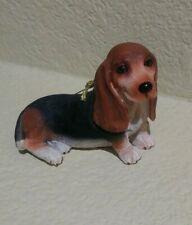 Vintage Danbury Mint Christmas Bassett Hound Dog Ceramic Christmas Ornament