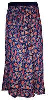 Indian 100% Cotton Women Long Skirt Hippie Plus Size Chilli Print Blue Color