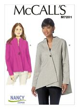 McCall's Sewing Pattern M7201 Misses 4-14 Loose Fitting Unlined Jackets Coat