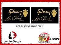 Gibson Guitar Headstock Decal Restoration Waterslide Logo 89w