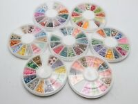 Wheel of 12 Styles Assorted 3D Fimo Polymer Clay Slices Various Nail Art Tips