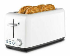Kambrook KTA140 A Perfect Fit 4 Slice Wide Slot Toaster - White
