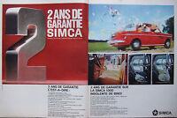 PUBLICITÉ DE PRESSE 1966 SIMCA 1000 INSOLANTE DE BRIO - ADVERTISING