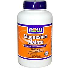 NOW Foods - Magnesium Malate - 1000 mg x 180 Tabletten - Nervös System Support
