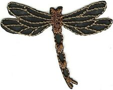 "2"" Dark Brown Dragonfly Embroidery Patch"