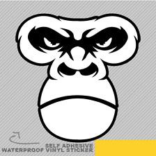 Gorilla Scimmia Faccia pericolosi Adesivo Vinile Decalcomania Finestra Auto Van Bici 2599