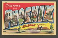 [56891] OLD LARGE LETTER POSTCARD GREETINGS from PHOENIX, ARIZONA