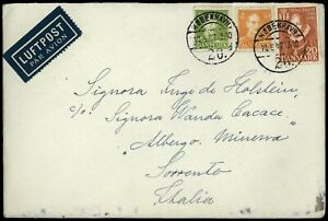 Denmark 1947 Airmail Cover To Italy Included #C57815