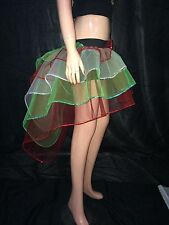 neon uv Red Green White Bustle Burlesque tutu Skirt fancy costume dance party