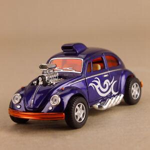 Purple Volkswagen Beetle Custom Drag Racer Model Car 1:32 12cm Pull-Back VW