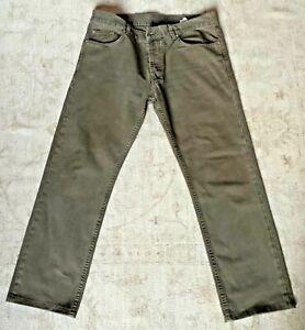 PRADA pantalone uomo 5 tasche verde militare TG.34 usati